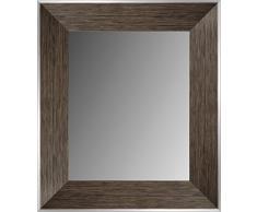 Lienzos Levante Espejo de Pared para baño o recibidor, Madera, Negro, 93 x 72 cm