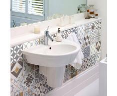 Ambiance-Live 24Pegatinas Adhesivas para Azulejos. Mosaico para Azulejos de Pared de baño y Cocina con Motivos Tradicionales, de Color Beis. Tamaño: 10x10cm; 24 Piezas