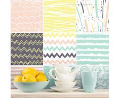 Ambiance-sticker Pegatinas de Azulejos Adhesivos, diseño de Azulejos de Cemento - Decoración de Pared para baño y Cocina - 10 x 10 cm - 9 Unidades