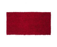 Sealskin Alfombra de Baño Antideslizante Absorbente Twist, 60 x 120 x 3 cm, Poliéster, Rojo