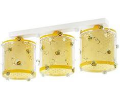 Dalber Lámpara Infantil Colgante Bee Happy, Multicolor