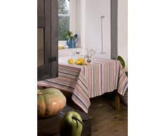 atenas home textile Moira 896.RDO Mantel Antimanchas Redondo, Algodón-Poliéster, Amarillo, 160.0x160.0x1.0 cm
