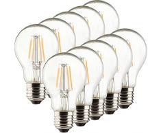 Müller-Licht-400218a + +, 10de Juego retro Bombilla LED de forma equivalente a 40W, cristal, E27, color blanco, 6x 6x 10.6cm