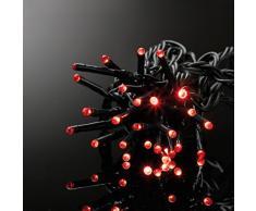 E = m6 5eex545ro guirnalda con 80 bombillas led plástico/PVC rojo