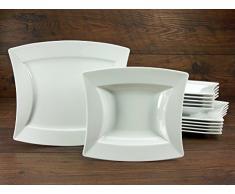 Creatable 19957, Serie Sailing Blanco, Cocina Vajilla 12Â Piezas Vajilla, Porcelana, Blanco, 36Â x 24Â x 32Â cm, 12Â Unidades
