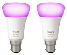 Philips Hue 2 focos white and colour ambiance LED 6,5 W E14 de luz blanca y coloreada para el sistema personal de iluminación inalámbrica