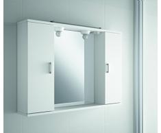 The Living Design Volta Armario con 2 Puertas, Madera, Blanco, 63 x 90 x 15.6 cm