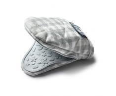 Celo silicona Mini manopla agarradera para cuadros, algodón, huevo de pato azul, 17,5 x 13,5 x 2,5 cm