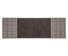 CarFashion 257809 pur ce nter Clean estrecho Diseño Felpudo (para interior y exterior, TPE de VC 100% SOSTENIBLE, de bronce metálico, 75 x 25 cm