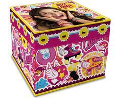 Star Licensing Disney Soy Luna Estuche Joyero, cartón, multicolor, 10 x 10 x 8.5 cm