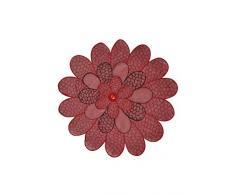 Bellanda 2073–30Flor Manteles Individuales, 50% Poliamida, 50% poliéster, Rojo, 30x 30x 0.50cm