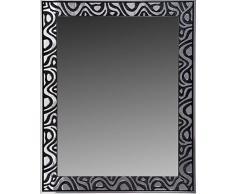 Lienzos Levante Espejo Decorativo Baño/Recibidor, Madera, Negro y Plata, 96 x 75 cm