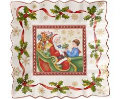 Villeroy & Boch toy S Fantasy cuenco cuadrado Papá Noel Navidad, porcelana, blanco, 23 x 23 x 0.1 cm