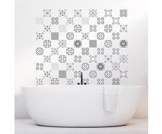 Ambiance-Live 60Pegatinas Adhesivos carrelages | Adhesivo Adhesivo Azulejos-Mosaico Azulejos de Pared de baño y Cocina | Azulejos Adhesiva-artística de Sombras de Gris-10x 10cm-60Piezas