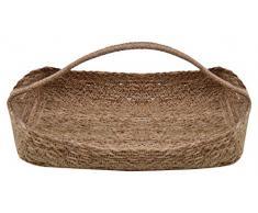 Moycor Jute Cesta Rectangular, Yute, Natural, 23x33x6 cm