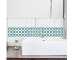 PLAGE Adhesivos para Azulejos y decoración de la Pared, Vinilo, Turquesa, 15x15cm