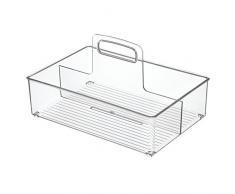 InterDesign Linus bolsa de almacenamiento para cocina, baño, armario, tamaño mediano, transparente