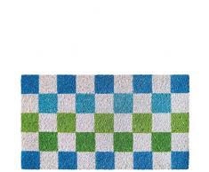 Laroom Felpudo, Fibra de Coco y PVC Base, Blue, Verde