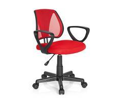 Hjh Office Kiddy Cd Silla de oficina infantil Rojo (Red) 40x53x92 cm