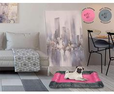 Sogni e capricci Tapete Totalmente Impermeable para Perros y Gatos, Rosa, 55x38cm, poliéster