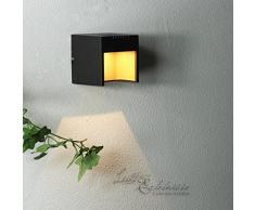 L/ámpara de exterior de paredAalborg compacto en acero inoxidable//1/x GU hasta 35/W 230/V//IP44/Impermeable Foco L/ámpara de pared para la casa pared patio jard/ín