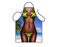 ICONIC APRONS Jamaica Bandera Bikini Delantal, Poliéster, Multicolor 79 x 56 x 0,1 cm
