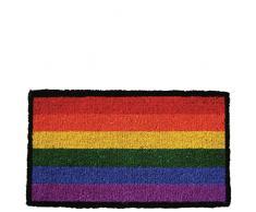 Laroom Felpudo, Fibra de Coco y PVC Base, Multicolor