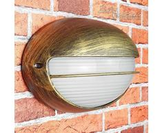 AMSTERDAM para entornos húmedos nostálgico 228815 – Lámpara de proyección para exterior/IP44 E27 de hasta 60 W/Barco de pared para patio y jardín Terraza Lámpara Iluminación