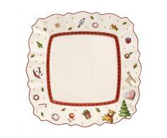 Villeroy & Boch 14-8585-2649 Plato de Desayuno Rectangular Toys Delight, para Navidad, 22 x 22 cm, Porcelana, Multicolor, 24.5x24.0x10.5 cm