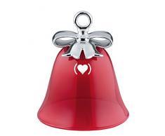 Alessi Decoración para árbol de Navidad de Porcelana y Cristal soplado mw42 Red Dressed For X-Mas, (Producto) Red Special Edition, Rojo