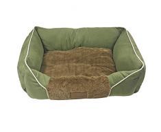 Just Contempo mascota cama cojín, verde