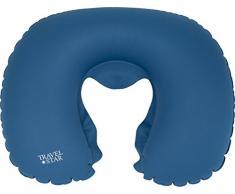 Travel Star TS de N- 2040 - Almohada Cervical Inflable de TPU Cojín Cervical, poliéster, Azul, 29 x 27 x 11, 5 cm