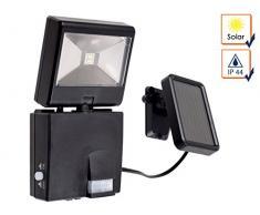 GAO Solar Foco LED con detector de movimiento, plástico, Negro, 2.5 x 11.6 x 15.2 cm