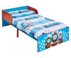 Hello Home Cama Infantil de Madera, Thomas y Sus Amigos, Azul Claro, 143 x 77 x 42.5 cm