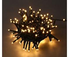 E = m6 5eex927ww guirnalda con 400 bombillas LED plástico/PVC blanco
