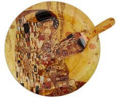 Hanipol 198-1221 - Plato decorativo de cristal con cuchara G.Klimt-the Kiss (largo 30,30 cm), multicolor