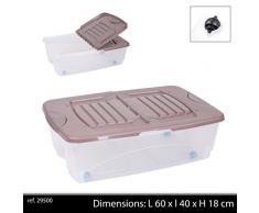 Fornord Caja de almacenaje con Ruedas (29Â L), Color Blanco