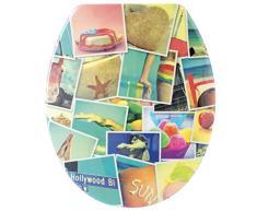 Gelco Design Holidays Photo Asiento de Inodoro, Thermodur/Duroplast, MULTICOULEUR, 46 x 38 x 4,5 cm