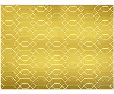 VINILIKO, Alfombra de vinilo, Dorado, 100x133 cm