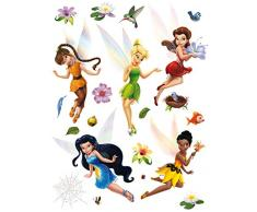AG Diseño DKS 1096 Disney Hadas, Pegatinas de Pared, 30 x 30 cm – 1 Notebook, Papel, Colorful, 30 x 30 cm
