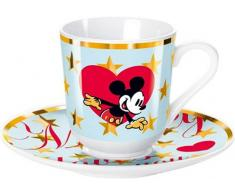 United Labels 0106851 - Taza y Plato de café, diseño Mickey Mouse