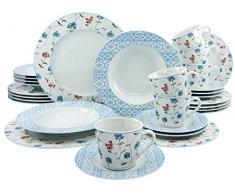 Creatable 17289 Serie Country Annika, Cocina Vajilla (30 Piezas, Porcelana, 42 x 33 x 36 cm, 30 Unidades