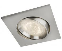 Philips Lighting Philips myLyving Galileo - Foco Empotrable de techo, LED integrado, consume 4.5 W, luz blanca cálida, regulable, Gris