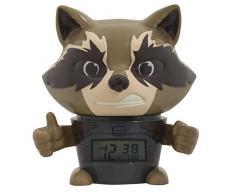 BulbBotz Despertador Infantil con Luz Nocturna de Rocket Raccoon de Vengadores, Azul, 11.5x15.3x16.5 cm, 2021708