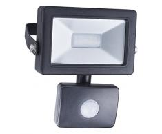 Smartwares 10.040.02 Foco LED con Sensor Exterior 10W 650lm luz Natural Blanca SL1-B10B, Negro