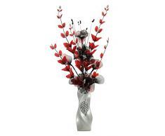 Flourish 724658 E13 - Florero con flor artificial de color rojo y negro, color rojo/negro, 80 cm, grande