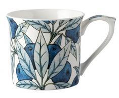 V&A - Set de tazas con diseño de frutas en caja de regalo, porcelana, azul, juego de 2