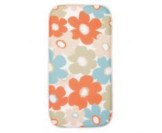 InterDesign iDry - Tapete absorbente para secado de vajilla; para mesada de cocina - 47.52cm x 22.86cm, mini - Brillante/marfil