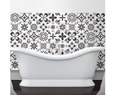 60pegatinas adhesivos carrelages | adhesivo adhesivo azulejos–Mosaico Azulejos de pared de baño y cocina | azulejos adhesiva–Design rosetas de sombras de gris–10x 10cm–60piezas