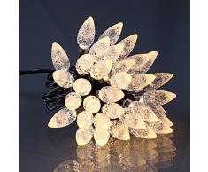 E = m6 5eex565ww guirnalda manzana de Pin con 60 bombillas LED plástico/PVC blanco